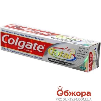Зубная паста Колгейт (COLGATE) Total 12 Профессиональная чистка 50 мл. Гель – ИМ «Обжора»
