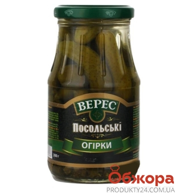 Огурцы Верес Посольские пикули 300 г – ИМ «Обжора»