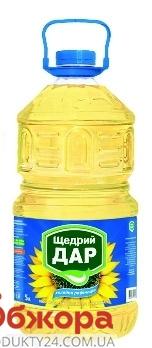 Подсолнечное масло Щедрый дар рафинированное 5 л – ИМ «Обжора»