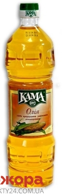 Кукурузное масло Кама рафинированное 1 л – ИМ «Обжора»