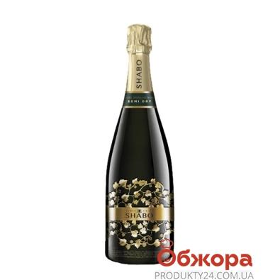 Вино игристое Шабо (Shabo) Классик выдержанное полусухое белое 0,75 л. – ИМ «Обжора»