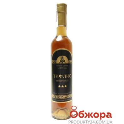 Коньяк Тифлис 3* 0,5л – ИМ «Обжора»