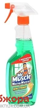Средство для мытья стекол Мистер Мускул (Mr Muscle) ЗЕЛЕНОЕ 500 мл. – ИМ «Обжора»
