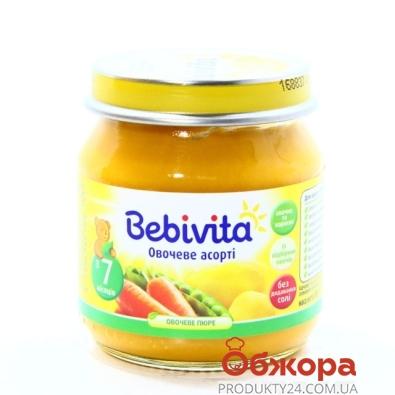 Пюре Бебивита (Bebivita) Овощное ассорти 100 г – ИМ «Обжора»