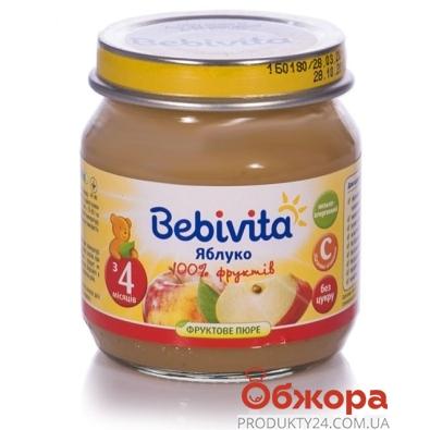 Пюре Бебивита (Bebivita) Яблоко 100 г – ИМ «Обжора»