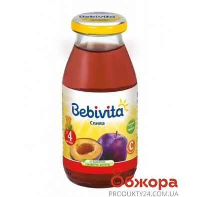 Сок Бебивита (Bebivita) фруктовый напиток слива 200 мл – ИМ «Обжора»