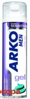 Гель для бритья Арко (Arko) Extra Sensitive 200 мл – ИМ «Обжора»