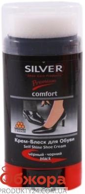 Крем-блеск для обуви Сильвер (Silver) черный 50 мл – ИМ «Обжора»