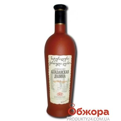 """Вино грузинское D&T """"Алазанская Долина"""" 0,75 л. красное полусладкое – ИМ «Обжора»"""