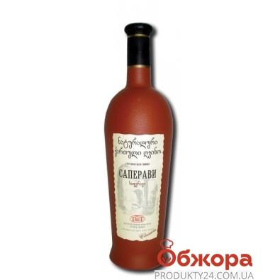 """Вино грузинское D&T """"Саперави"""" 0,75 л. керамическая бутылка – ИМ «Обжора»"""