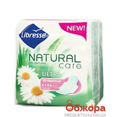 Прокладки Либрес (Libresse) Natural Care Ultra Normal 10 шт. – ИМ «Обжора»
