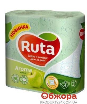 Туалетная бумага Рута  4 шт. зеленая ар Delicate – ИМ «Обжора»