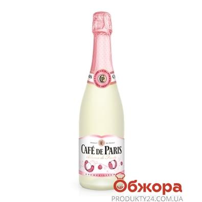 Вино игристое Кафе де Пари (Cafe de Paris) Litchi 6,7% 0,75 л. бел. п/сл. – ИМ «Обжора»