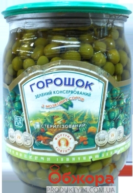 Консервы Фортуна Горошек зеленый 510г ст – ИМ «Обжора»