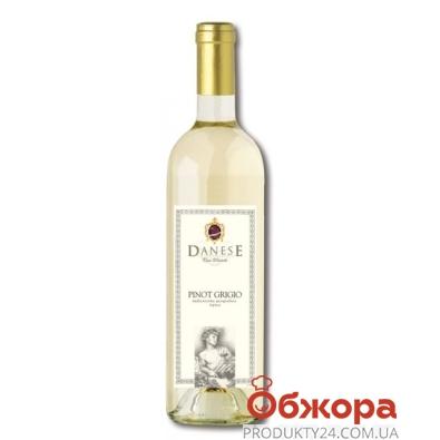 Вино Данезе (Danese) PINO GRIGIO белое сухое 0,75 л. – ИМ «Обжора»