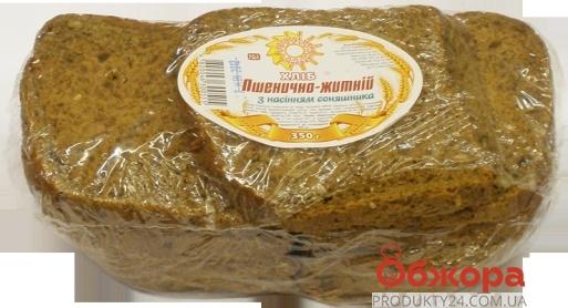 Хлеб ржано-пшеничный с семечками подсолнечника Золотое зерно 350гр – ИМ «Обжора»