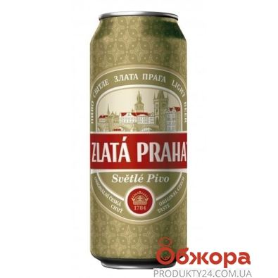 Пиво Zlata Praha Оболонь 0,5л ж/б – ИМ «Обжора»