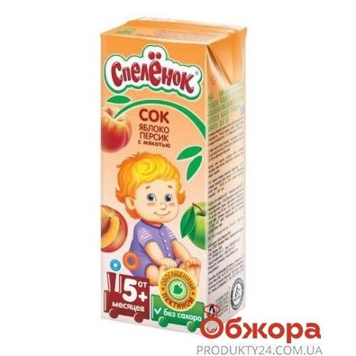 Сок Спеленок Яблоко-персик с пектином 200 г – ИМ «Обжора»