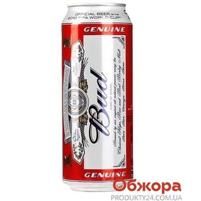 Пиво Бад (Bud) Светлое 0.5 л – ИМ «Обжора»