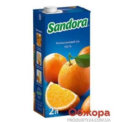 Сок Сандора (Sandora) апельсин 2 л – ИМ «Обжора»