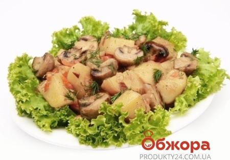 * Картофель запеченный с грибами и овощами – ИМ «Обжора»