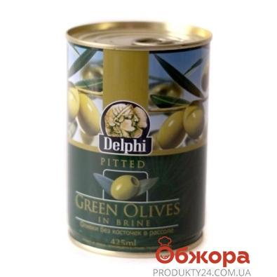 Оливки Делфи (Delphi) зеленые без косточек 425 гр. – ИМ «Обжора»