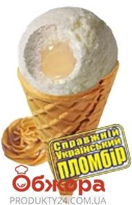 Мороженое Ласунка Настоящий  украинский пломбир со сгущенным молоком рожок – ИМ «Обжора»
