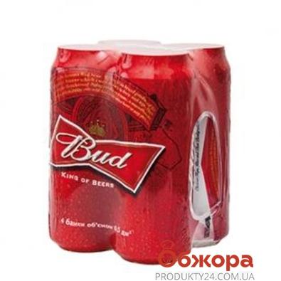 Пиво Бад (Bud) 0.5  *4 – ИМ «Обжора»