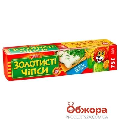 "Чипсы Жайвир ""Золотистые"" укроп/сметана 75 гр. – ИМ «Обжора»"