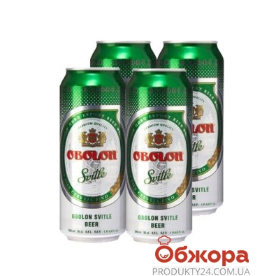 Пиво Оболонь Светлое 0.5л  3+1 акция – ИМ «Обжора»