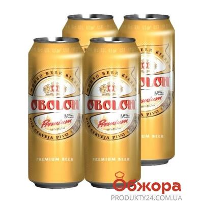 """Пиво Оболонь """"Премиум"""" 0.5л акция 3+1 – ИМ «Обжора»"""