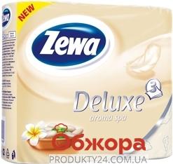 Туалетная бумага Зева (ZEWA) Deluxe aroma spa (шампань) 4 шт – ИМ «Обжора»