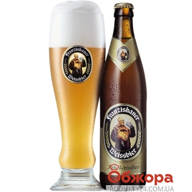 Пиво Францисканер (Franziskaner) Hefe Weissbier Германия 0,5 л. – ИМ «Обжора»