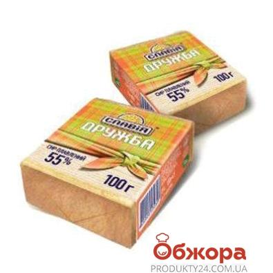 Сыр плавленый Славия Дружба 55% 100 г – ИМ «Обжора»