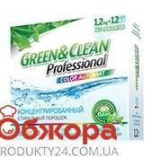 Стиральный порошок Грин клин (Green&Clean) Professional для цветного бесфосфатный 1,2 – ИМ «Обжора»