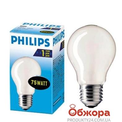 Лампочка Филипс (Philips) GLS 75W E27 матовая – ИМ «Обжора»