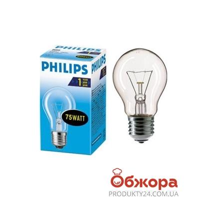 Лампочка Филипс (Philips) GLS 75 W E27 прозрачная – ИМ «Обжора»