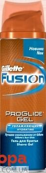 Гель для бритья Джилет (Gillette) FUSION PROGLIDE Увлажняющий 200 мл. – ИМ «Обжора»