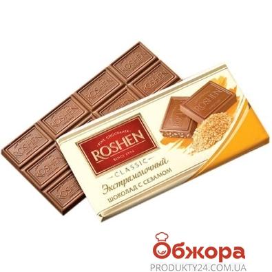 Шоколад Рошен (Roshen) Экстрамолочный с сезамом 100 г – ИМ «Обжора»