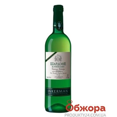 Вино Инкерман (INKERMAN) Шардоне Качинское белое сухое  0,75 л – ИМ «Обжора»