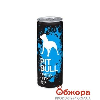 Напиток энергетический Пит Буль (Pit bull)  ягода 0.25 л – ИМ «Обжора»