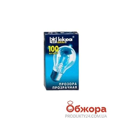 Лампочка Искра 100 Вт E27 прозрачная – ИМ «Обжора»