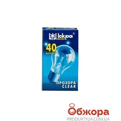 Лампочка Искра 40 Вт E27 прозрачная – ИМ «Обжора»