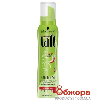 Пена для волос Тафт (TAFT) Мега фиксация 150 мл – ИМ «Обжора»