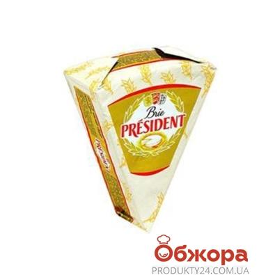 Сыр с плесенью Президент (President) Бри 60% 125 г – ИМ «Обжора»