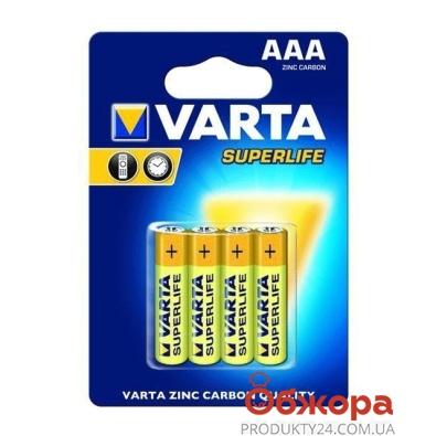Батарейки Варта (VARTA) Superlife 4 AAA – ИМ «Обжора»