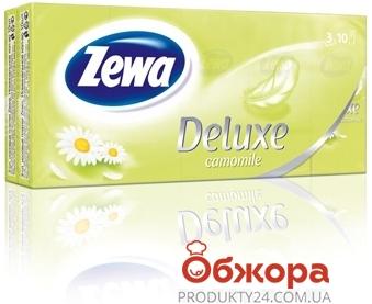 Платки носовые Зева (ZEWA) Делюкс 3 слоя 10*10 Perfume – ИМ «Обжора»