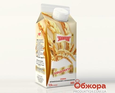 Бифидойогурт Злагода Злаки 300 г 1,5% – ИМ «Обжора»