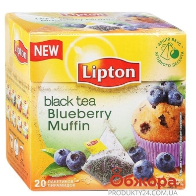 Чай Липтон (Lipton) Fruit Blueberry Muffin 20 п – ИМ «Обжора»