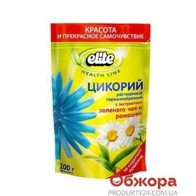 Цикорий Элит (Elite) с зелёным чаем и ромашкой 100 г – ИМ «Обжора»